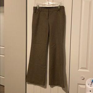 Express Editor pants wide leg brown tweed size 8R